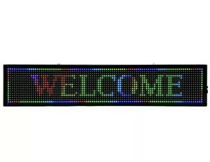 40 x8 Rgb 7 Color Led Sign Programmable Scrolling Message Display Board Us