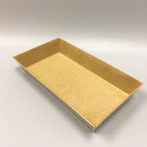 Take Out Kraft Paper Sushi Container With Lid Cake Food Box Side Dish 6 4 X 3 5