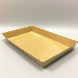 Togo Kraft Paper Sushi Box With Lid Take Out Food Container Cake Tray 8 25 X 5