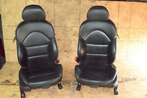 Bmw E46 M3 Coupe Front Right Left Leather Heated Seat Chair Set Pair Oem