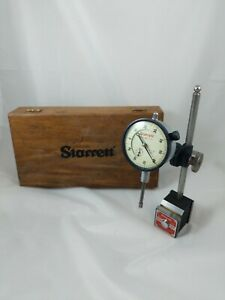 Vtg Starrett 657 Magnetic Base W 25 441 Indicator Holder Used