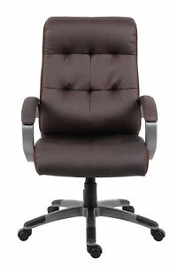 Boss Leatherplus Executive Chair In Brown Finish B8771p bn