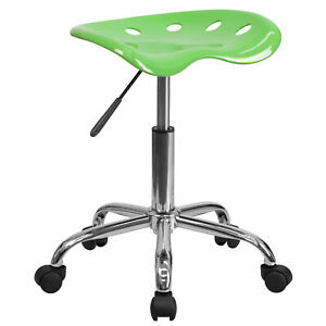 Flash Furniture Apple Green Tractor Seat Chrome Stool Lf 214a applegreen gg