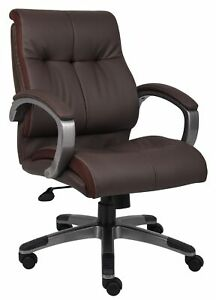 Boss Leatherplus Executive Chair In Brown Finish B8776p bn