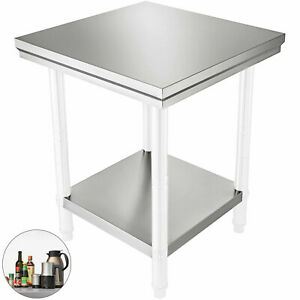 24 X 24 Stainless Steel Work Prep Table Commercial Kitchen Restaurant 60x60