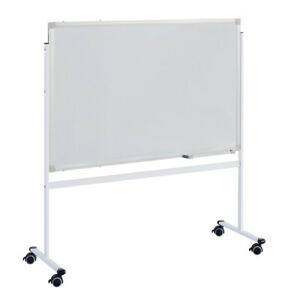 Whiteboard Double sided Mobile With Stand 60 90cm Magnetic Dry Eraser Board