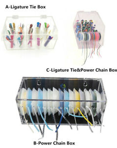 Dental Orthodontic Elastic Ligature Tie Organizer Power Chain Storage Box Holder