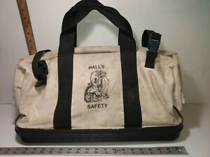 Hall s Lineman Cable Phone Electrician Splicer Tool Bag Duffle Sack Canvas Usa