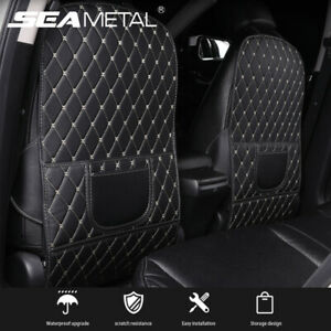 Universal Pu Leather Car Seat Back Armrest Anti Kick Pad Mat Protector Cover New