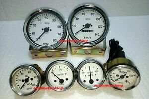 Smiths Kit 100mm Speedo Tacho 52mm Temp Oil Pressure Fuel Amp Gauge Replica