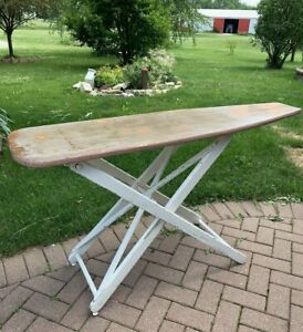 Vintage Wooden Folding Ironing Board Solid