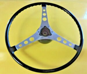 Original Gm C1 Corvette Black Steering Wheel W Hub 1956 1962