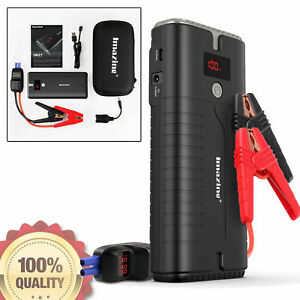Portable Car Jump Starter Auto Battery Booster Emergency Power Pack Jumper Box