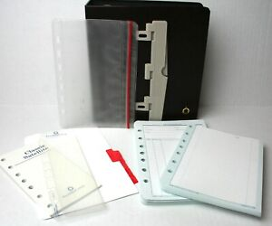 Franklin Covey Classic Storage Binder Inserts Info Daily Line Pages Punch Pouch