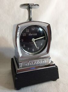 Mint Dorson Four Jewel Time Stamp Clock With Unused Inking Base