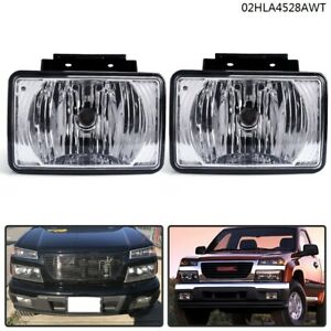 Replacement For Chevy Colorado Gmc Canyon 2004 2012 Pickup Pair Bumper Fog Light