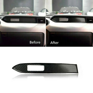 New Carbon Fiber Interior Dashboard Panel Cover Trim For Ford Mustang 2015 2019