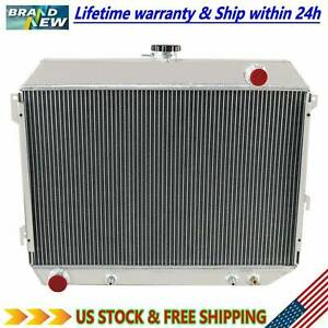 3 Row Aluminum Radiator For Dodge Plymouth Mopar Cars 26 Wide Core 1968 1974 73