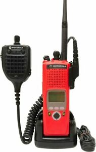 Motorola Astro Xts 5000 Ii Vhf P25 Digital Two Way Radio Aes Des Adp Gps Mic Red