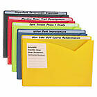 Write on Expanding Poly File Folders 1 Exp Letter Assorted Colors 25 bx