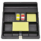Recycled Plastic Desk Drawer Organizer Tray Plastic Black