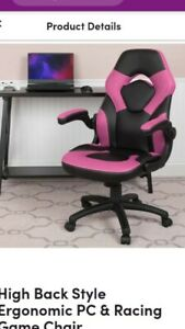 Ofm Essentials Racing Style Gaming Chair Dark Pink