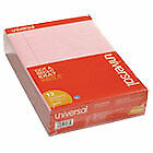 Colored Perforated Writing Pads Wide legal Rule 8 5 X 11 Pink 50 Sheets