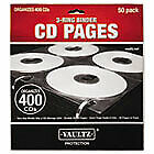 Two sided Cd Refill Pages For Three ring Binder 50 pack