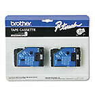 Tc Tape Cartridges For P touch Labelers 1 2 w Black On Clear 2 pack