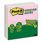 Recycled Note Pads 3 X 3 Assorted Helsinki Colors 100 sheet 24 pack