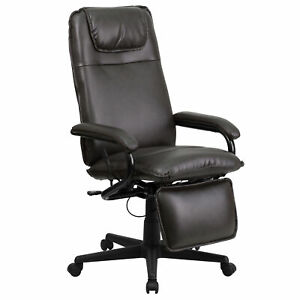 Flash Furniture Brown Leather Executive Swivel Office Chair Bt 70172 bn gg