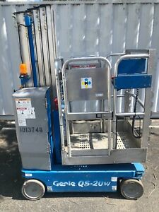 2015 Genie Qs 20 20 Electric Vertical Mast Lift Personnel Man Aerial
