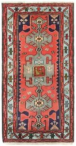 Hand Knotted Tarom Tribal Coral Blue Wool Nomadic Oriental Rug 2 9 X 5