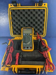 Fluke 117 Trms Multimeter Screen Protector Hard Case Excellent More
