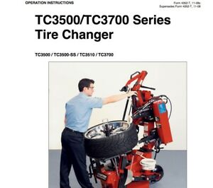 Hunter Tc3500 tc3700 Series Tire Changer Operating Instructions Manual On Cd rom