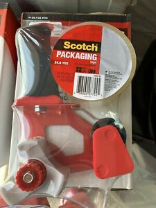 3m Scotch Case Of 3 Shipping Packing Tape Dispenser Guns W 3 Rolls Of Cleartape