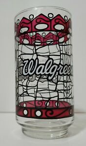 Vintage Walgreens Coca-Cola Drinking Glass Stained Glass