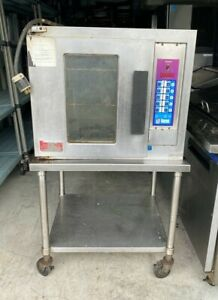 Lang Ehs Half Size Convection Oven 208 240 Volts 3 Phase Rolling Stand Tested