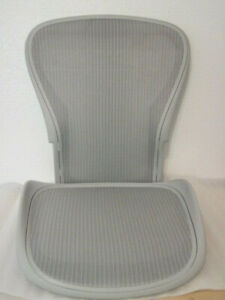 Herman Miller Aeron Chair Reinforced Seat Back Set Mineral Size C New Parts