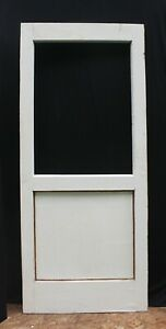 33 X79 Antique Vintage Old Oak Solid Wood Wooden Exterior Entry Back Door Window