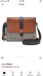Fossil Kinley Crossbody Bag Purse $45.00