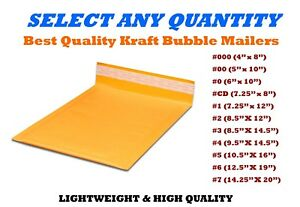 Kraft Bubble Mailers Shipping Mailing Padded Bags Envelopes Self seal Any Sizes