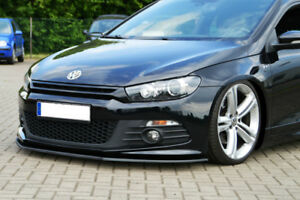 For Vw Scirocco R Line Front Bumper Lip Cup Skirt Spoiler Chin Valance Splitter