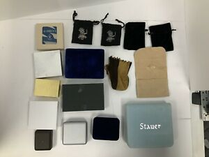 Mixed Lot Of Jewelry Gift Boxes Cloth Bags Various Size Recycledfashionshopcom