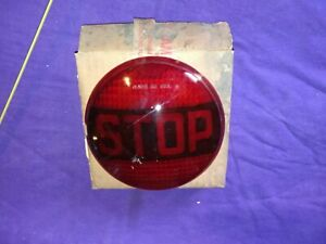 Vintage Nos Do Ray Red Glass Stop Lens Auto Truck