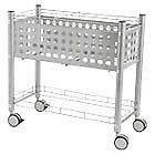 Smartworx File Cart One shelf 28 1 4w X 13 3 4d X 27 3 8h Matte Gray