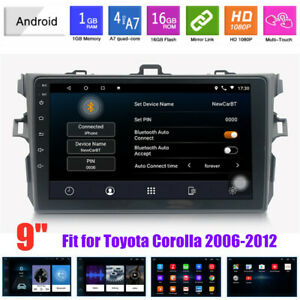 9 Android 9 1 Touch Screen Gps Car Mp5 Player Fit For Toyota Corolla 2006 2012