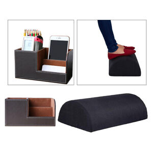 1 Set Office Desktop Organizer Drawer Storage Box foot Rest Cushion