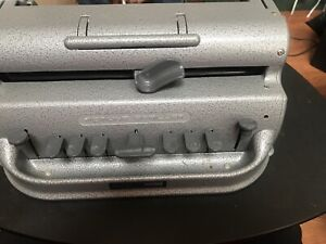 Perkins Brailler Typewriter With Cover