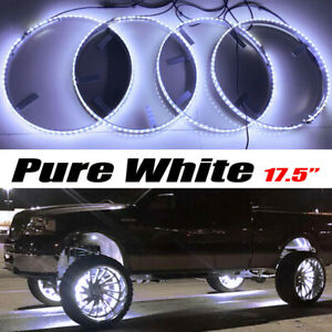 Fia 17 5 Wheel Lights Pure White Single Row Switch Control For Car Jeep Truck